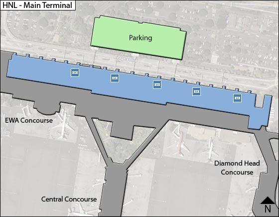Honolulu Airport Main Terminal Map