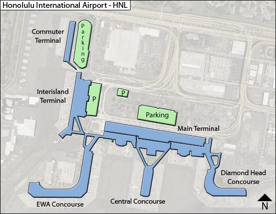 Honolulu International Airport Map Honolulu HNL Airport Terminal Map