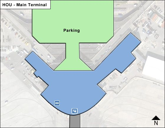 Houston Airport Main Terminal Map