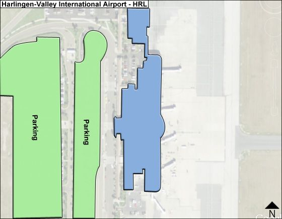Harlingen-Valley HRL Terminal Map