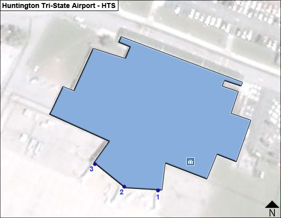 Huntington Tri-State HTS Terminal Map