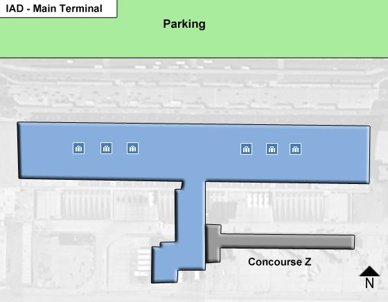 Chantilly Airport Main Terminal Map