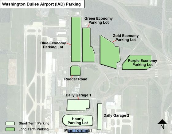 Washington dulles airport parking iad airport long term parking rates map - Parking garage near my location ...