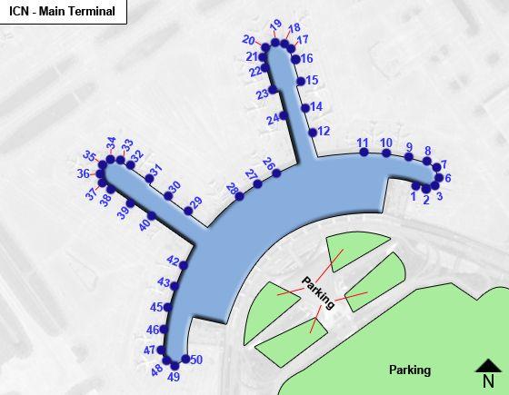 Jung-gu, Incheon Airport Main Terminal Map