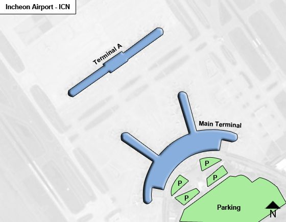 Incheon ICN Airport Terminal Map