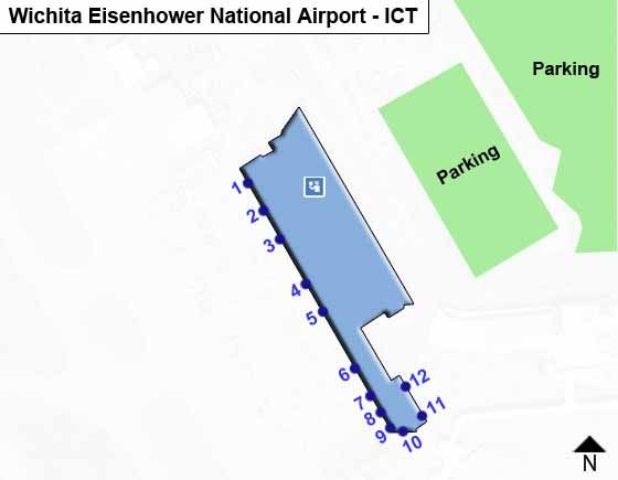 Wichita Eisenhower National ICT Terminal Map