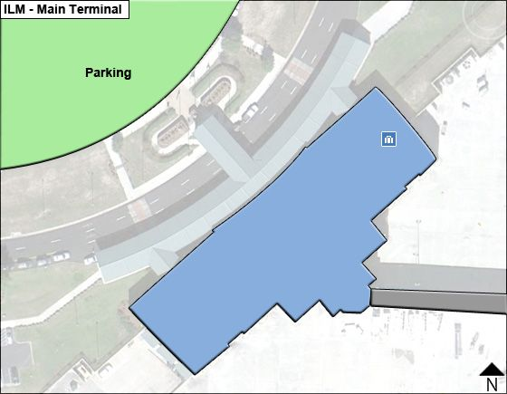 Wilmington Airport Main Terminal Map