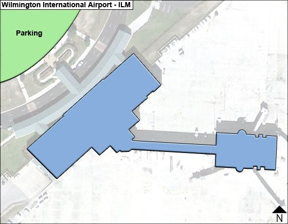 Wilmington ILM Terminal Map