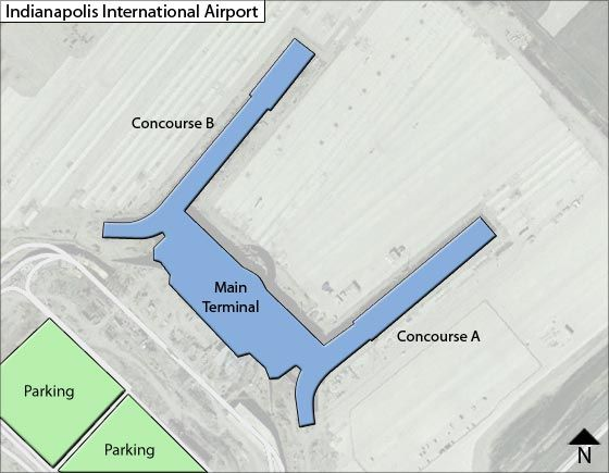 Map Of Indianapolis Airport Indianapolis IND Airport Terminal Map