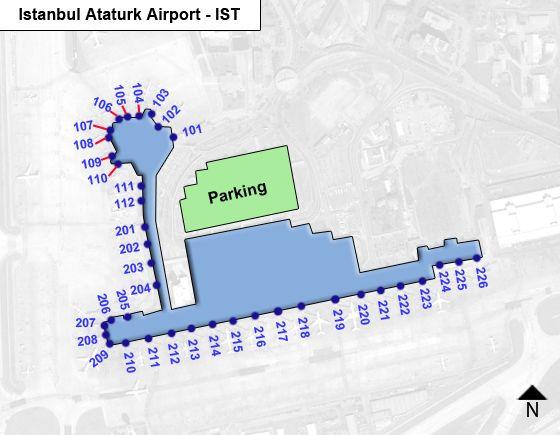 Istanbul Ataturk IST Terminal Map