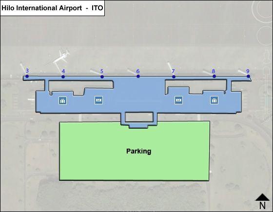 Hilo ITO Terminal Map