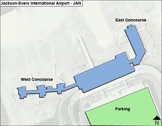 Jackson Evers JAN Terminal Map