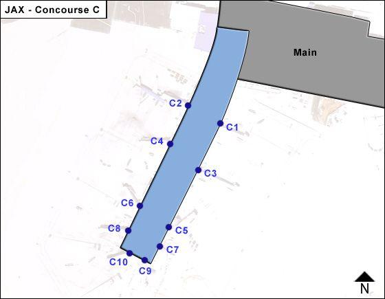 Jacksonville Airport Concourse C Map