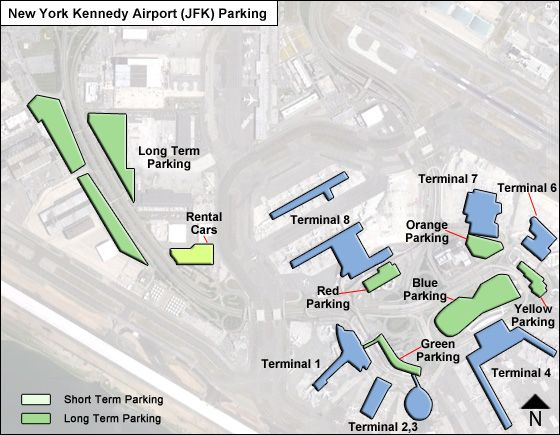 New York Kennedy JFK airport parking map