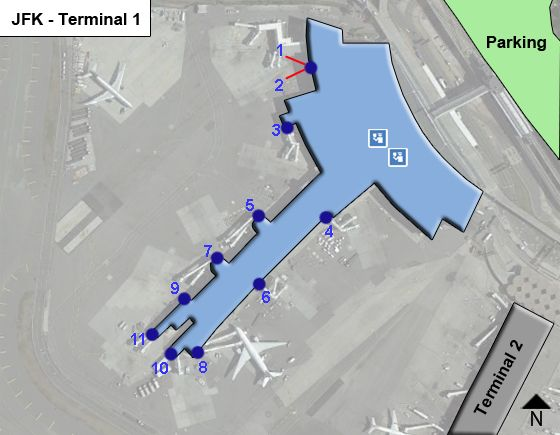 New York Airport Terminal 1 Map