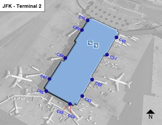 New York Airport Terminal 2 Map