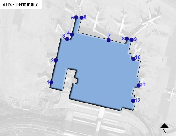 New York Airport Terminal 7 Map