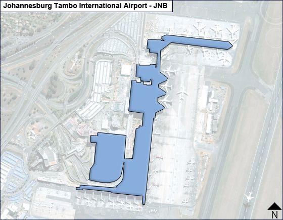 Johannesburg Tambo JNB Terminal Map