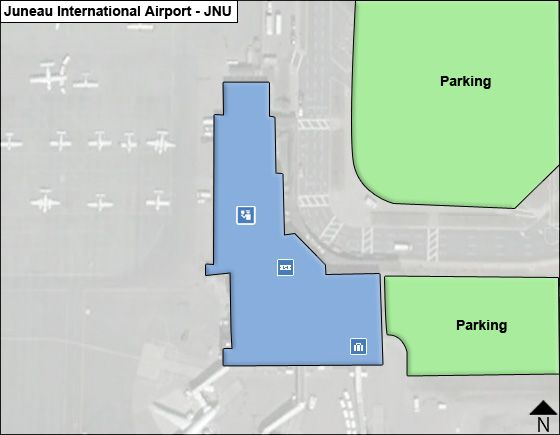 Juneau Airport Overview Map