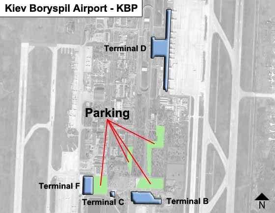 Kiev Boryspil KBP Terminal Map