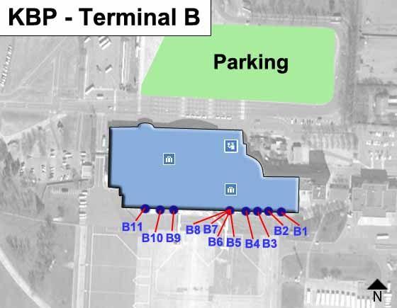Kyiv Airport Terminal B Map