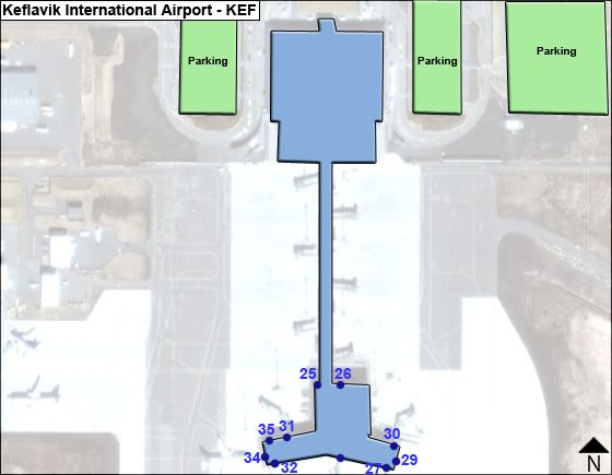 Keflavik Airport Overview Map