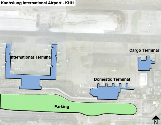 Kaohsiung KHH Terminal Map