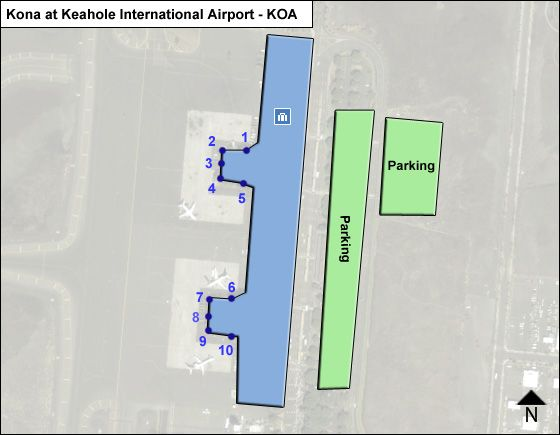 Kailua Kona Airport Overview Map