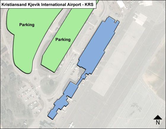Kristiansand Kjevik KRS Terminal Map