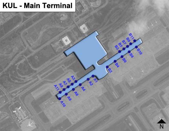 Kuala Lumpur KUL Terminal Map