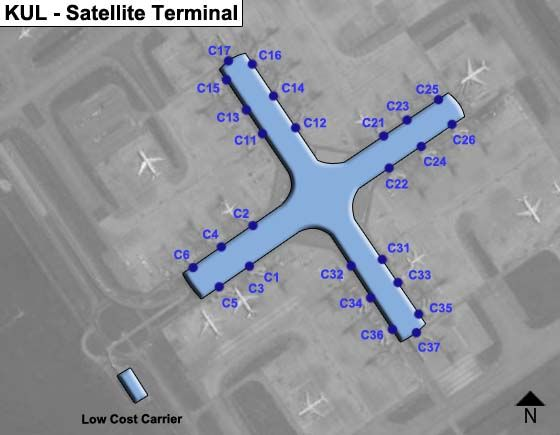 Selangor Airport Satellite Terminal Map