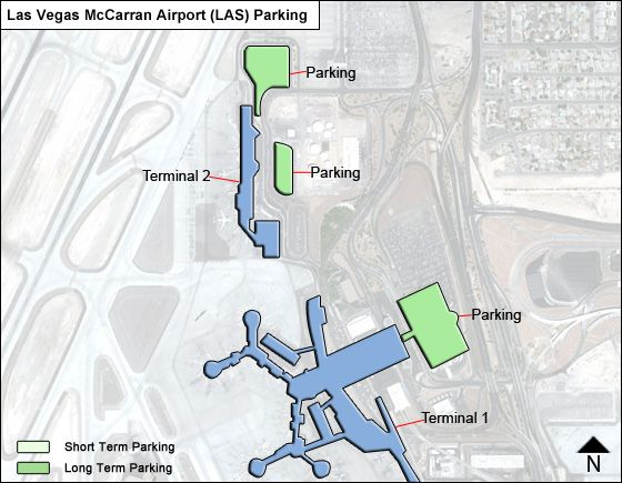 Las Vegas McCarran LAS airport parking map