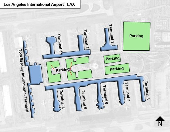 Los Angeles Airport Overview Map
