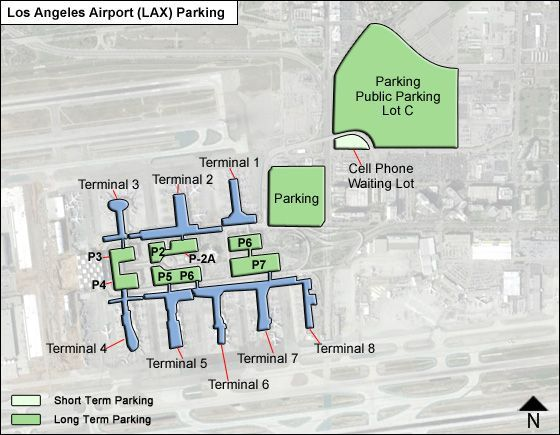 Los Angeles LAX airport parking map