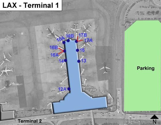 Los Angeles Airport Terminal 1 Map