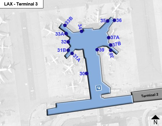 Los Angeles Airport Terminal 3 Map