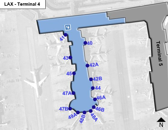 Los Angeles Airport Terminal 4 Map