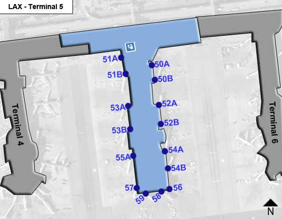Los Angeles Airport Terminal 5 Map