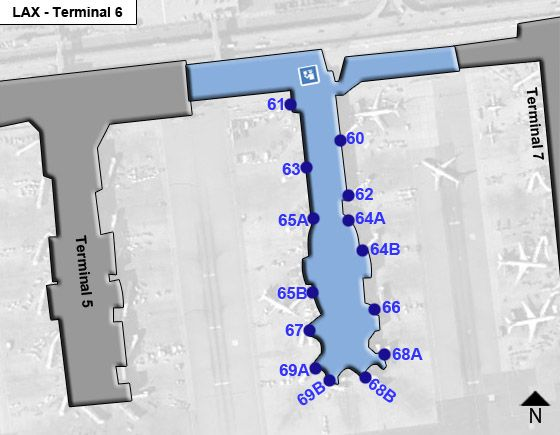 Los Angeles Airport Terminal 6 Map