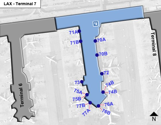 Los Angeles Airport Terminal 7 Map