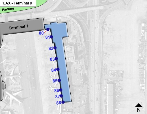 Los Angeles Airport Terminal 8 Map