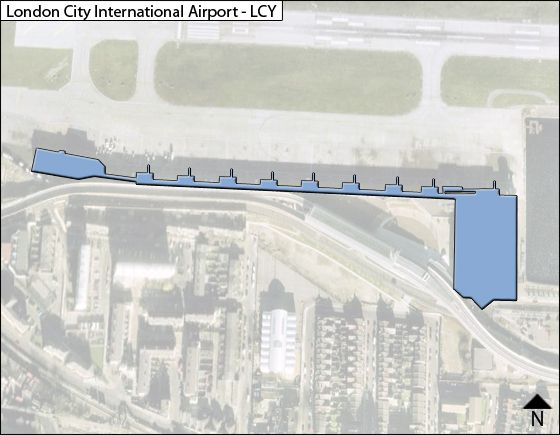 London City LCY Terminal Map
