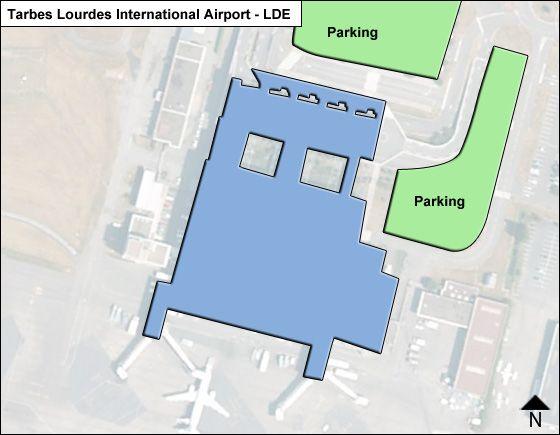 Tarbes Lourdes LDE Terminal Map
