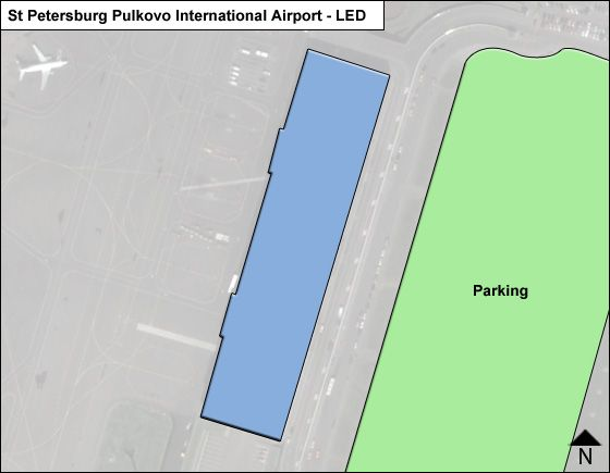 St Petersburg Pulkovo LED Terminal Map