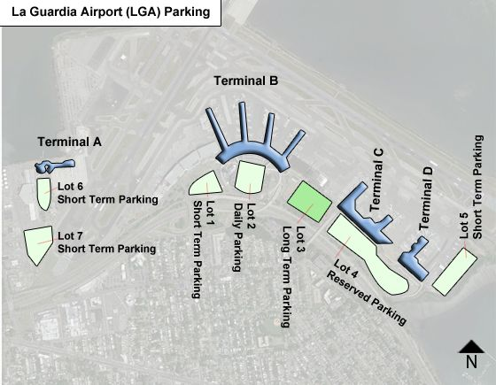 La Guardia LGA airport parking map