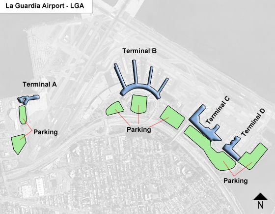 Flushing Airport Overview Map