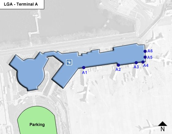 Flushing Airport Terminal A Map