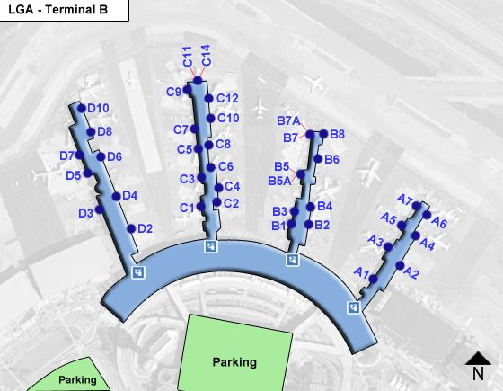 Flushing Airport Terminal B Map