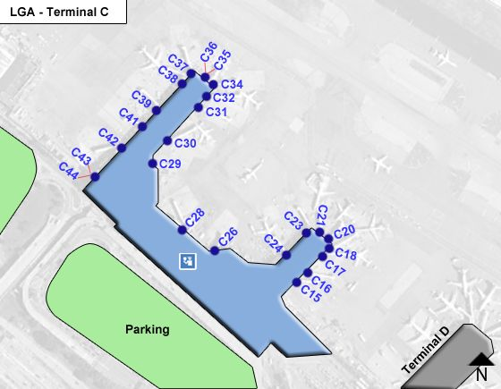 Flushing Airport Terminal C Map