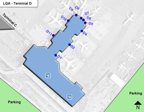 Flushing Airport Terminal D Map